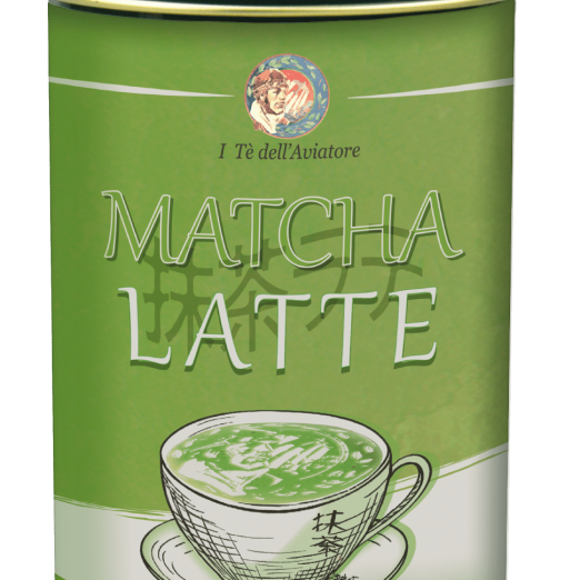 Matcha latte lattina
